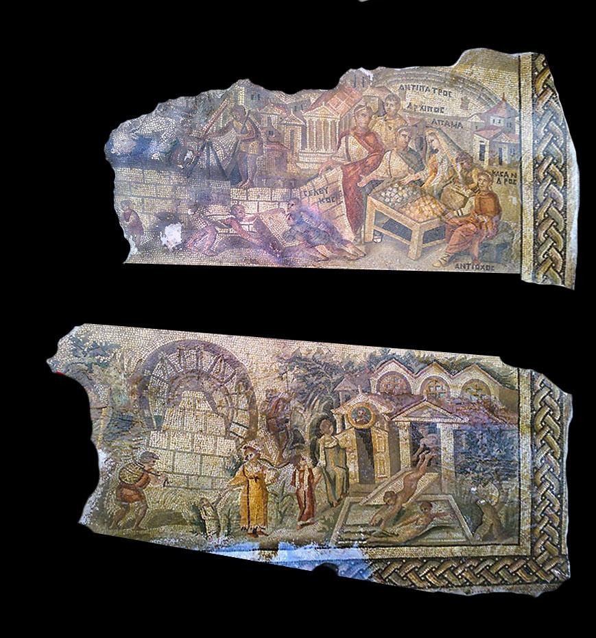 Mozaika skradziona ze stanowiska Apamea autor nieznany; zdjęcie po obróbkach technicznych, własność autora publikacji wszystkie prawa zastrzeżone