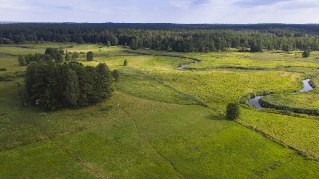 Lokalizacja stanowiska Supraśl 3 w dolinie rzeki Supraśl © D. Marczak