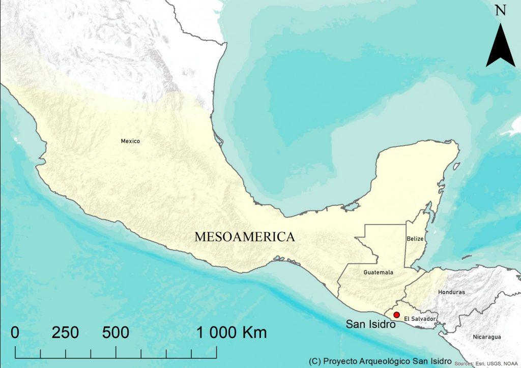 San Isidro leży na południowo-wschodnich rubieżach Mezoameryki © PASI, ilustracja na licencji CC BY 4.0