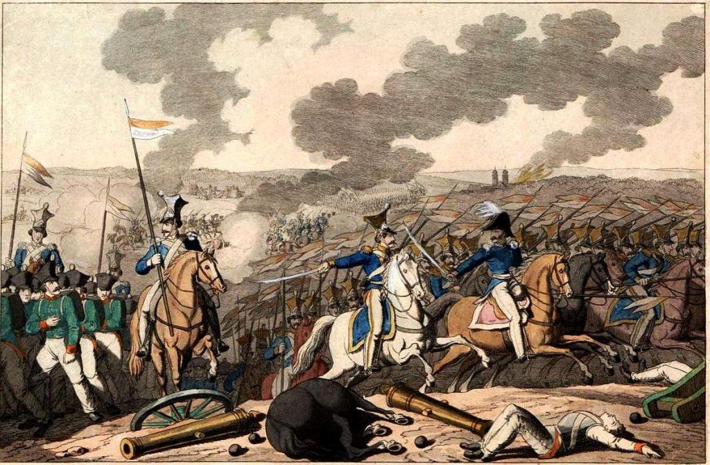 Bitwa pod Iganiami, rycina Georga Benedicta Wundera Polska Biblioteka Narodowa, POLONA, Domena Publiczna