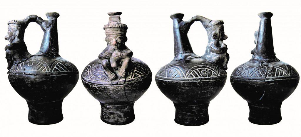 Naczynie kultury Chimú odnalezione w okolicach Biłgoraja © K. Grochecki