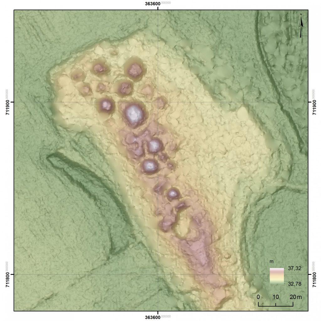 Numeryczny model terenu cmentarzyska © Mateusz Skrzatek