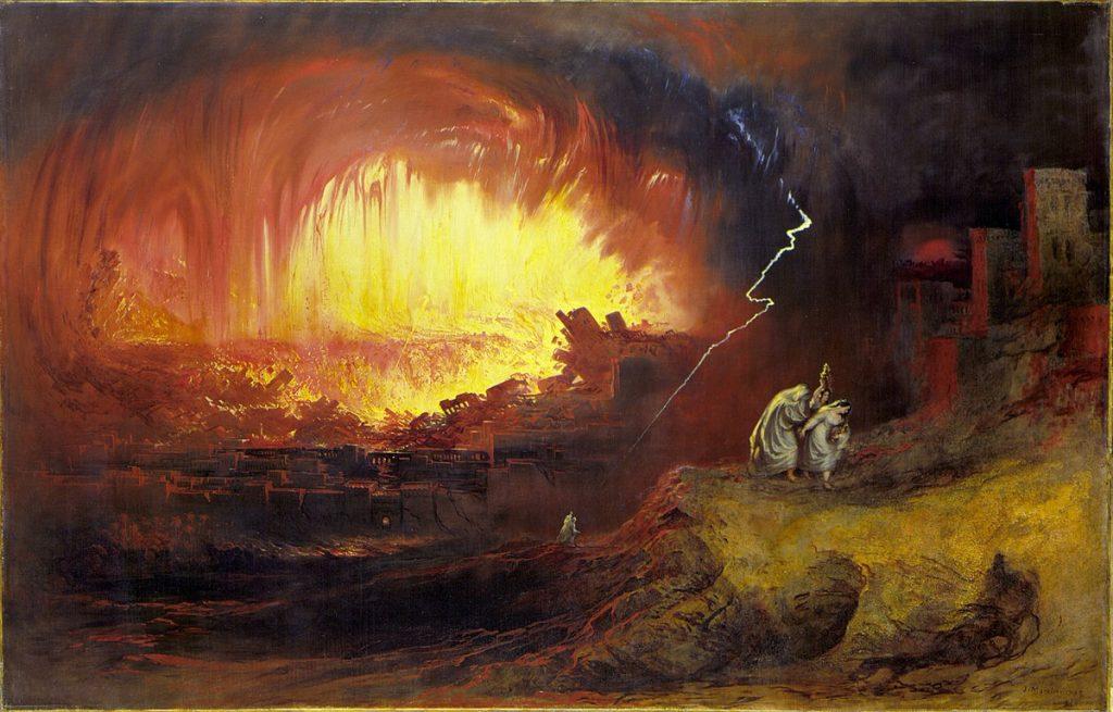 J. Martin, Zniszczenie Sodomy i Gomory (1852), Domena Publiczna