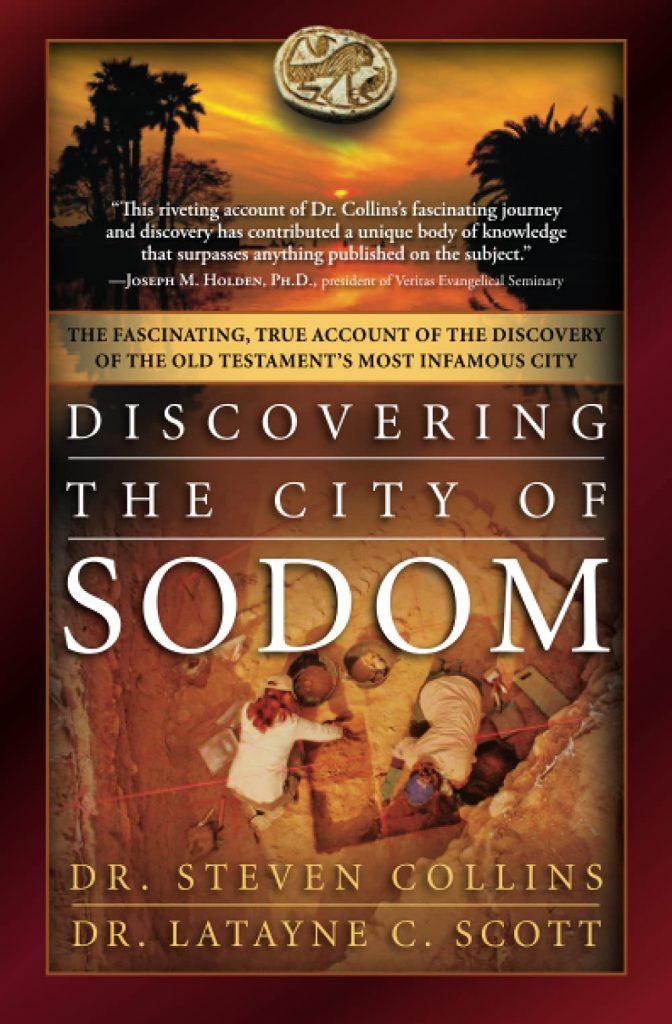 Okładki książki Stevena Collinsa, w której przedstawione zostały argumenty za identyfikacją Tall el-Hammam jako biblijnej Sodomy. W środowisku archeologów zajmujących się epoką brązu w południowym Lewancie identyfikacja ta jest powszechnie odrzucana
